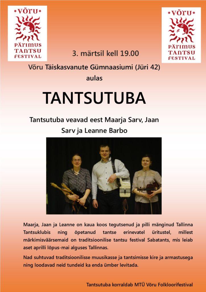 3. märts Tantsutoa kuulutus